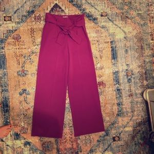 LEITH size small, purple wide leg pant.